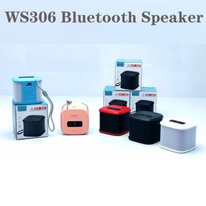 Mini Portable Bluetooth Speaker WS306 Speakers FM Plug-in Card Double Horn Shower Car Handsfree Receive Call Music Suction for PC smartPhones 5colors