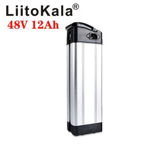 LiitoKala 48V 12Ah Silverfish electric bicycle battery for 48V Bafang   8fun 500W 750W mid mid drive motor with aluminum housing