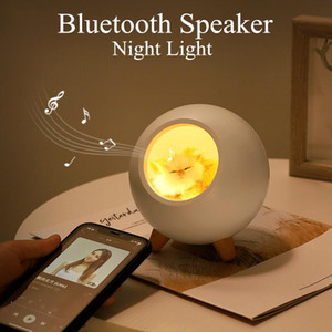 Cute Cat House Bluetooth Speaker Night Light Lamp Touch Dimming LED Baby Kids Bedside Sleep Lamps bedroom Home decor desk lights