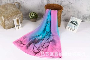 Spring summer autumn winter crocodile Chiffon women's sun protection super large beach Scarf straight