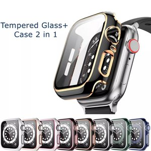 Screen Protector Cases for Apple Watch Series 6 5 4 3 SE Case iWatch Shell 44mm 40mm 42mm 38mm Two-color Bumper Cover Accessories With Retailer Packing