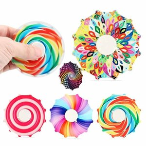 Compare with similar Items DHL 3-7 days delivery ! Cross-border double-sided colorful fingertip spinning top Rainbow color finger decompression toy gift