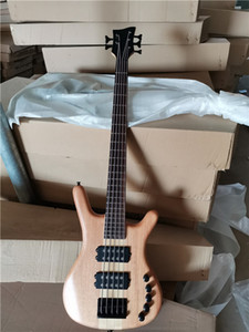 One piece in stock now,5 strings Neck-thru-body Electric Bass Guitar with Black hardware,Rosewood fingerboard,offer customize