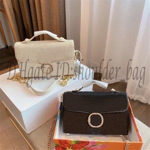Dame berühmter Designer Senior Double G Handtaschen 24k Metallkette Satchel Taschen Perforierte Klappenbeutel mit Box Kreuzkörper Mode Handtasche Totes Tasche