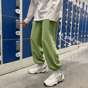 2021 New Spring Sweatpants Men's Fashion Casual Men Streetwear Korean Loose Hip-hop Straight Mens Joggers Track Pants S-2xl Knh5