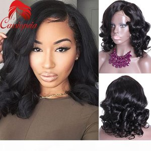 Left Part Loose Wave Full Lace Wigs For Black Women Glueless Brazilian Virgin Human Hair Lace Front Wigs 8A Grade Free Shipping