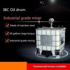 Pneumatic Tools IBC Tank Agitator 1HP Power Industrial Paint Glue Mixer 1000L Capacity Horizontal Claming Mix Machine