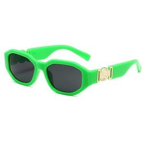 Yeni 4361 Kafa Erkekler Güneş Gözlüğü Düzensiz Küçük Çerçeve Bayanlar Tasarımcı Gözlük Moda Gözlük Kılıf