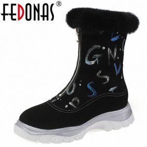 Fedoni più recenti donne grandi dimensioni inverno caldo donne stivaletti stivali piattaforma stivali da ufficio casual scarpe da ufficio donna frontale cerniera corta 26ah #