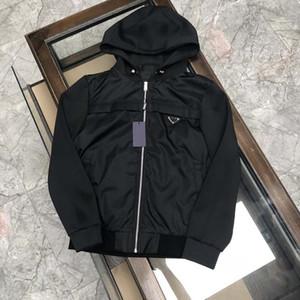 21SS Homme Designers Vêtements Hoodie Triangle Triangle Hoodies Veste Mens d'hiver Manteaux Hommes Designers Sweaters Men S Vêtements Noir Bleu 09