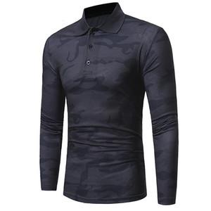 Левая ром мода мужская хлопок тонкий корпус набор головы рубашка с длинным рукавом / мужской досуг камуфляж с длинным рукавом рубашка лавочки