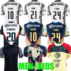 Liga MX 21 22 Club America Soccer Jerseys Leon Dritte 2021 2022 Camisetas Tigres Unam Chivas Cruz Azul 3. Training Football Hemden