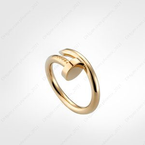 nail ring designer classic love screw rings luxury designer jewelry women gold rings Titanium steel Gold-plated Never fade Not allergic -G