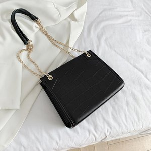 Yüksek kapasiteli çanta kadın çantası 2020 yeni moda düz renk tek omuz çantası hardcase zincir çapraz vücut çanta zincir çanta cüzdan