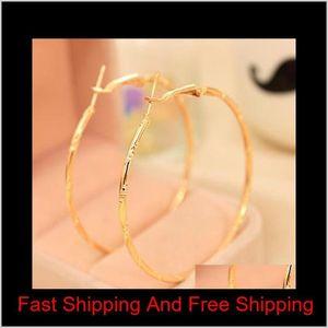 Earrings Hoop Silver Or Gold Plated Stainless Steel Hoop Earrings For Basketball Wives Jewelry Christmas Big Gold Hoop Earrings O9Ny0 7Ecqk