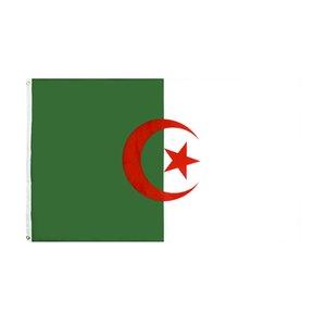 Bandera de Argelia 3x5 FT República Argelina banderas banderas 90 * 150cm Poliéster con ojales de latón Home Home Garden