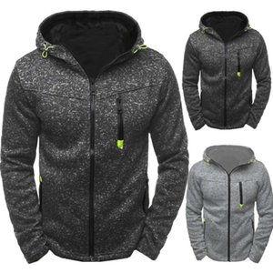 Männer Sport Freizeit Jacquard Pullover Fleece Mode Strickjacke Mit Kapuze Jacke Pullover