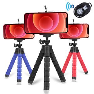 Teléfono móvil Camera Trípode Grip Octopus Soporte Selfie Temporizador Soporte para iPhone Android Universal Flexible 360 Grado Desktop