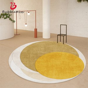 Bubble Kiss Round Carpets Nordic Modern Minimalist Living Room Bedroom Rugs Coffee Table Home Decoration Customized Floor Mats