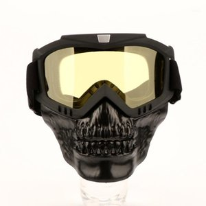 Motorcycle Protective Skull Face Mask Motocross Goggles Atv Dirt Bike Utv Eyewear Motor Bike Windproof Skeleton Goggles1