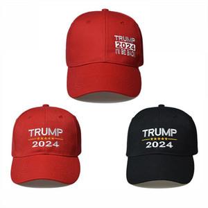 Trump 2024 Hat Trump Cotton Sunscreen 2024 Trump Baseball Cap USA Cap Red and Black Color GWE4795