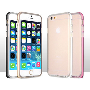 2 in 1 Hybrid TPU Bumper Case For Iphone 6 6s Cases Metal Frame Transparent Cover Phone Case For iphone6s Coque