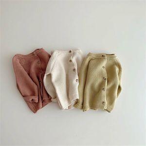 MILANCEL 2021 spring baby sweater sweet infant girls knitwear brief baby boys sweaters cardigan 210226