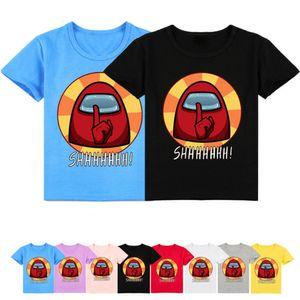 2-16Y Fashion Among Us T Kids T-shirt Short Sleeve Baby Boys Game Cartoon Summer Tops Toddler Girls Clothes Children Shirt