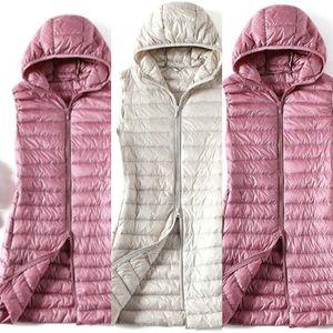 Sedutmo Winter Plus Size 3XL Womens Donsjacks Ultra Licht Lange Hooded Vest Casual Vest Herfst Jas Slim Parka ED913 4 8P57