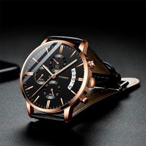 Relojes de pulsera Klok Moda Hombre Hombre Reloj Relojes para hombres Reloj Relogio Mens 2021 Man Belt de Pulso Kol Saati Erkek Montre Homme Muñeca Herren Uhre