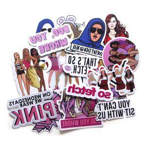 20 Mean Girl Stickers Suitcase Skateboard Refrigerator Notebook Cartoon Decoration Pvc KVZU