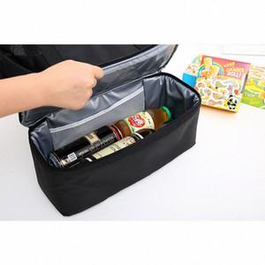 Diniwell Sac à lunch isolé en PVC Grand capacités sac à main sac à main pour pique-nique Portable Eau Résistant à l'eau Nylon G0FH #