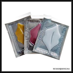 Epack rosa blanco oro máscara de labios almohadillas de la máscara de humedad esencia cristal colágeno labios cuidado parche pad lab lip face care belleza cosmetic