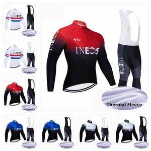 Inéos cycliste hiver thermique thermique jersey babo pantalons de babine de vélo Jersey costume costume vélo vélo à vent vêtement portable 102721