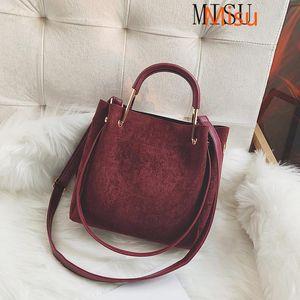 Сумки на ремне зимние матовые кожаные женские сумки винтажную женскую сумку повседневный большой Tote Lady Crossbody Messenger Bolsa черный