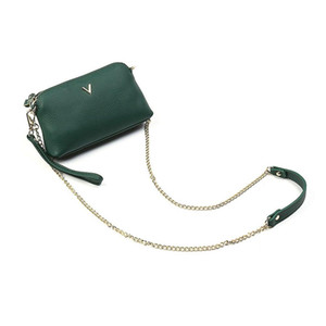 New diagonal small bag ladies fashion leather simple one-shoulder clutch bag student chain wild soft leather coin purse wholesale 835