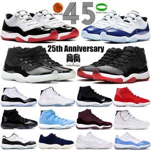 Top 11s Concord 45 Designer Sneakers 11 Bred Platinum Tint Low Midnight Navy Zapatillas de baloncesto para hombres Mujeres XI Zapatillas de deporte US 36-47