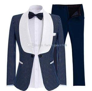 Handsome One Button Groomsmen Shawl Lapel Groom Tuxedos Man Suit Mens Wedding Suits Bridegroom (Jacket +Pants +Tie )A220