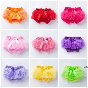 Baby Skirt Ruffles Chiffon Bloomer Tutu Skorts Infantil Algodão Bow PP Shorts Crianças Linda saia Fralda Capa Underwear Says Sea EWC6151