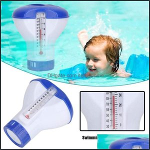 Pool Water Sports Outdoorspool Thermometer 1Pc Swimming Aessories Floating Disinfecting Box Chlorine Dispenser & Drop Delivery 2021 Wfh4L