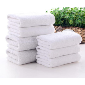 Hot Sale Cotton Towel White Hotel Towels Face Towels Bath Towel for Adults High Absorbent Wholesale