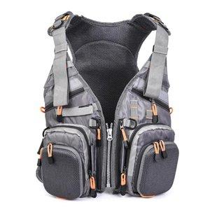 생활 조끼 부표 Blusea 낚시 자켓 메쉬 구명 조끼 배낭 통기성 야외 재킷