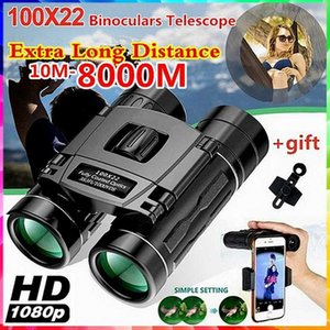 100x22 HD Binoculars Low Light Night Vision with BAK4 Prism FMC Lens 383 1000M for Hunting Bird Watching Traveling Concert