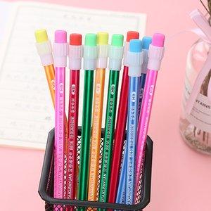Wholesale big tip HB pencil creative hexagonal pole flash red pole wooden pencil pupil writing pencil set
