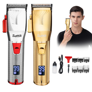 High Quality Resuxi Q1S Professional Hair Trimmer Cordless Hair Cutter Barber Hair Clipper 2500mAh Battery LCD Display Beard Trimmer