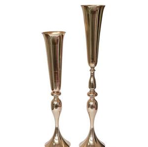 88cm tall slim metal flower vase , trumpet vases centerpieces for wedding decor home decoration wedding flower stand