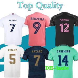 S-2XL 2020 Real Madrid Soccer Jersey 20 2021 Zidane Jerseys Benzema Sergio Ramos Kroos Hazard 19 20 Maglie da calcio Maillot