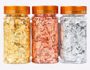 Gold Leaf Flakes Copper Flakes for Gliding Arts Crafts Decoration Silver Copper Gold Foil Fragments Gold Flakes Crafts