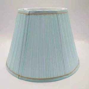 Light blue round fabric lampshade e27 nodric lamp shade for table lamp modern DIY cover for homedecoration