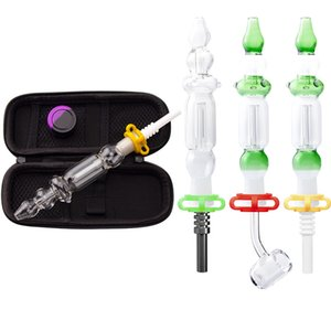 Vaping_Dream CSYC NC011 Bag Glass Pipe Kit Titanium Ceramic Quartz Nail Concentrate Dab Rig Glass Bong Smoking Pipes Set